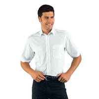 Chemise Homme Manches Courtes Blanche Pilota