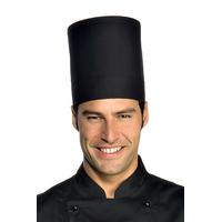 Toque noire de chef cuisinier elite