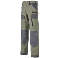 Pantalon de travail kaki et gris