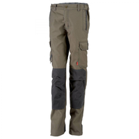 Pantalon de travail femme stretch et multipoches marron