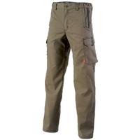 Pantalon de travail sans poches genoux marron A. Lafont