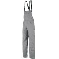 Cotte de travail à bretelles gris acier