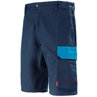 Short bleu de travail marine et bleu