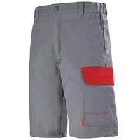 Bermuda de travail gris acier et rouge pour Homme