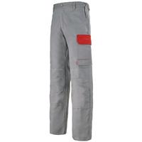 Pantalon de travail gris acier et rouge empire muffler