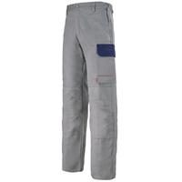 Pantalon de travail gris acier et bleu marine muffler