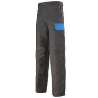 Pantalon de travail gris charbon et bleu azur muffler