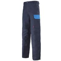 Pantalon de travail bleu marine et bleu azur muffler