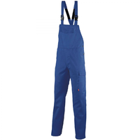 Salopette bleu de travail à bretelles attache automatique