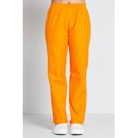 Pantalon médical orange mandarine, coupe unisexe