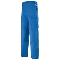 Pantalon de travail Homme Multipoches bleu azur