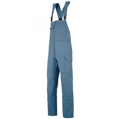 Cotte de travail à bretelles bleu petrole zircon / 6MIMCP24