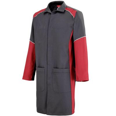Blouse de travail Homme à manches longues charbon et rouge warm / 7TEECP572