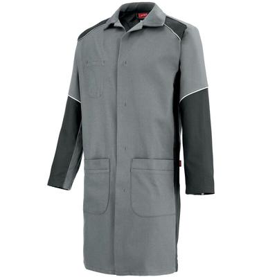 Blouse de travail Homme à manches longues gris et charbon warm / 7TEECP661