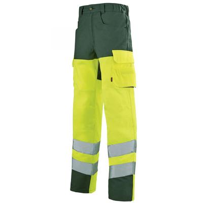 Pantalon de travail haute visibilité jaune hivi et vert / 1HVGCP2109