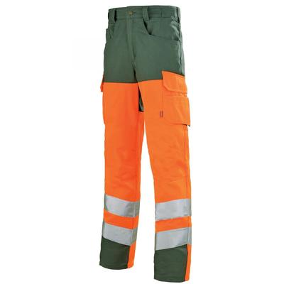 Pantalon de travail haute visibilité orange hivi et vert / 1HVGCP263