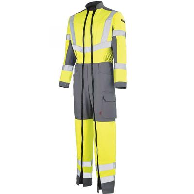 Combinaison de travail haute visibilité jaune fluo hivi et gris acier / 5HVHCP242