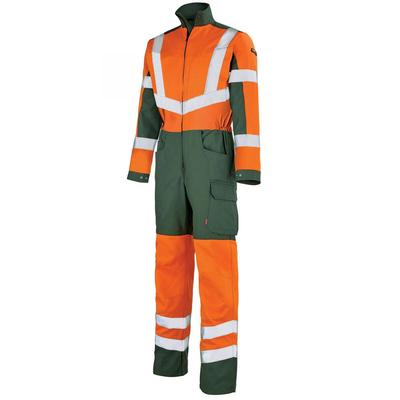Combinaison de travail Homme orange hivi et vert fonce / 5HVNCP263
