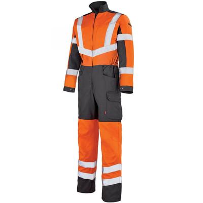 Combinaison de travail haute visibilité orange fluo et gris / 5HVNCP1867