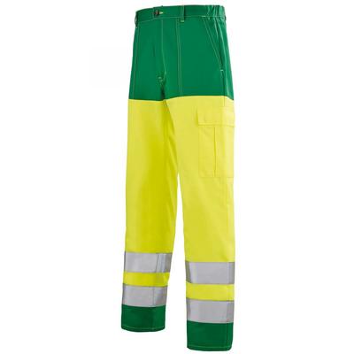Pantalon de travail Hivi jaune et vert alpin Sapivog A. Lafont / 1ECOHV720