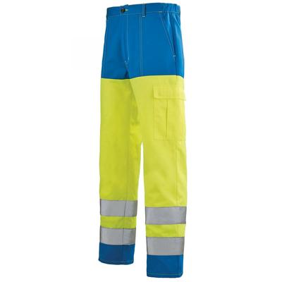 Pantalon Haute visibilité jaune fluo hivi et bleu bugatti A.Lafont / 1ECOHV702