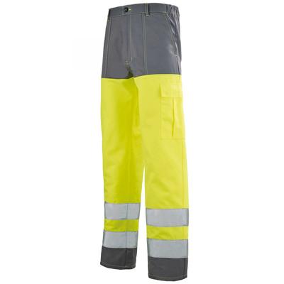 Pantalon Haut visibilité jaune fluo et gris acier Sapivog Hivi / 1ECOHV706