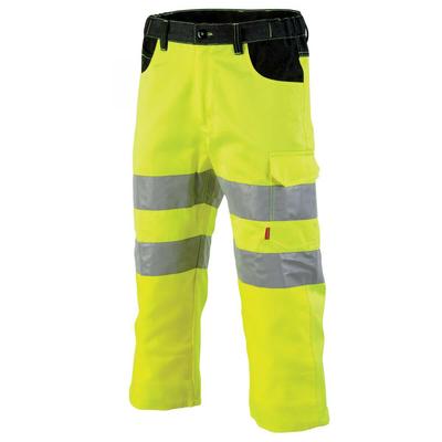 Pantacourt haute visibilité jaune fluo et noir galilee / 1FLPCP750