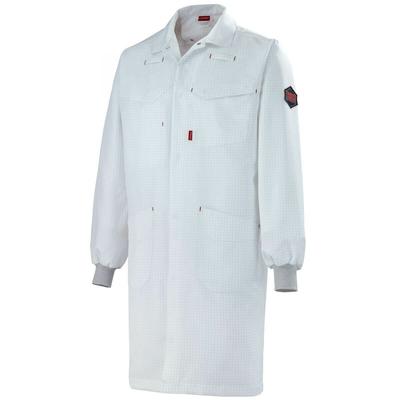 Blouse blanche de travail poignets tricot marius A. Lafont / 7ESD8
