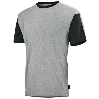 Tee-shirt gris / noir flange / C190ATT233
