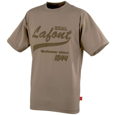 Tee-shirt manches courtes beige nikan A. Lafont / CSTONE179