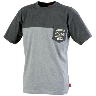 Tee-shirt bicolore chiné noir chiné / gris chiné cayuga / CSTONE2985