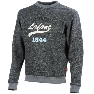 Sweat-shirt de travail noir chiné A. Lafont / DSTN11860