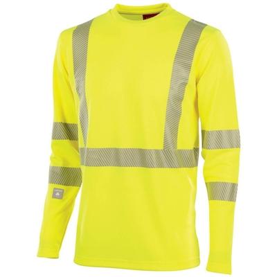 Tee-shirt de travail haute visibilité jaune hivi signal / CHVIML700