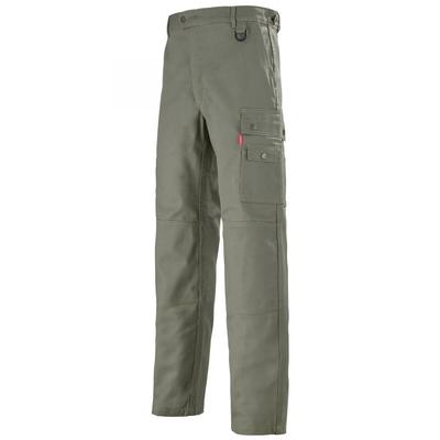Pantalon de travail avec ceinture reglagble kaki A. Lafont / 1PERCP3
