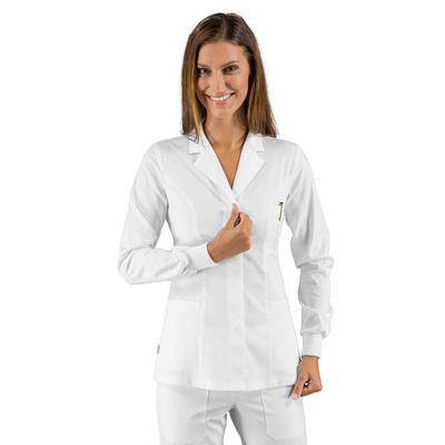 Tunique blanche avec poignets tricots
