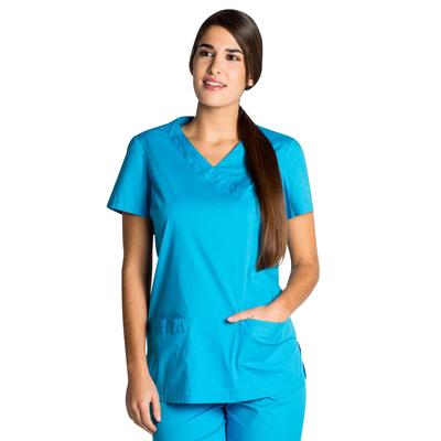 Blouse médicale femme turquoise