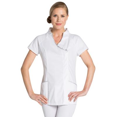 uniforme blanc d'estheticienne
