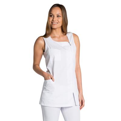 Tunique médicale blanche sans manche