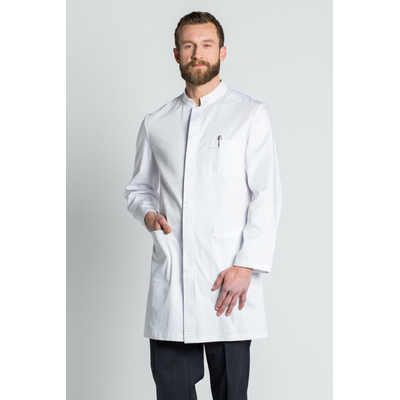 blouse blanche homme  col mao