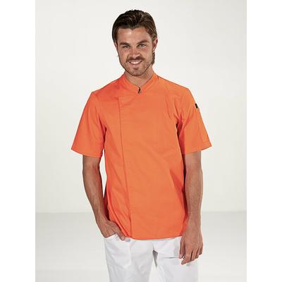 voir veste de cuisine orange manches courtes homme
