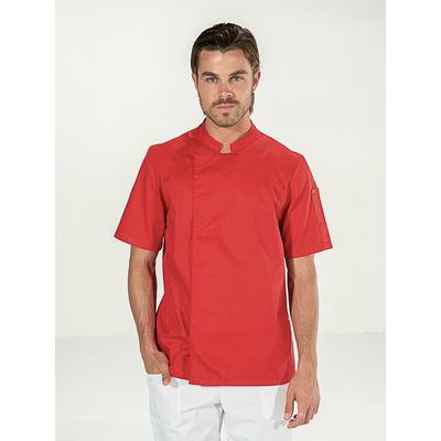veste cuisinier rouge manches courtes pas chère