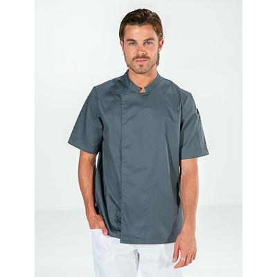 veste cuisinier grise manches courtes