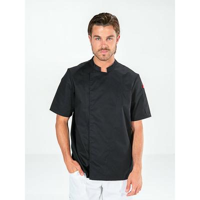 voir veste de cuisine manches courtes noir