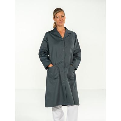blouse professionnelle médicale grise manches longues pour femme