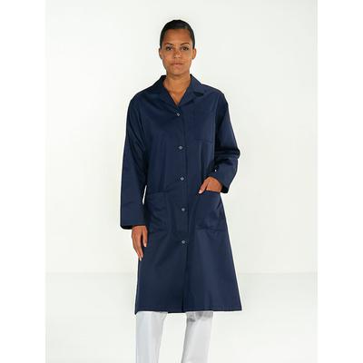 blouse professionnelle médical manches longues bleu marine