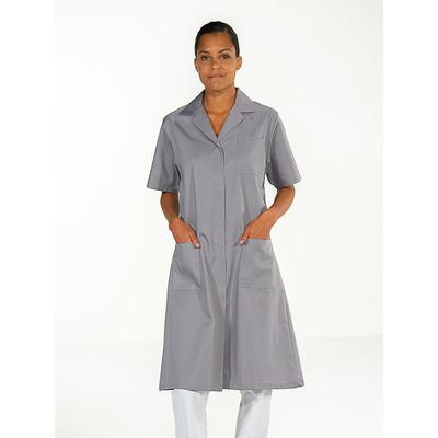 blouse médicale pour femme à manches courtes grise