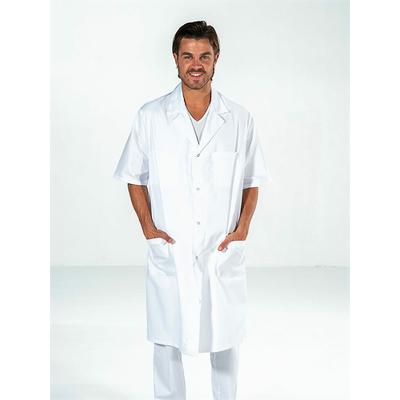 blouse médicale homme blanc manches courtes