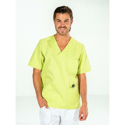 casaque vert pistache pour homme manches courtes
