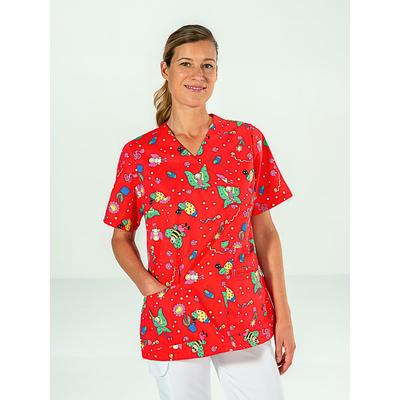 tunique pédiatrie pour femme avec motifs couleur rouge