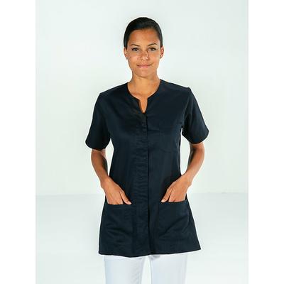 tunique médicale élégante bleu marine à manches courtes pour femme